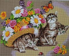 """Painting Diamond""/GF0560""Котята"" мозаика на подрамнике 40х50"